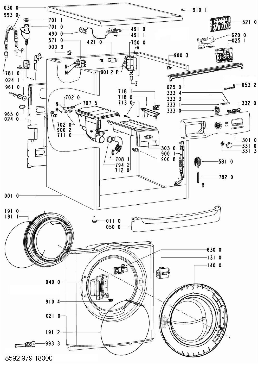 Awoe9558 859297918000 whirlpool lavadoras lavadoras - Recambios general electric ...